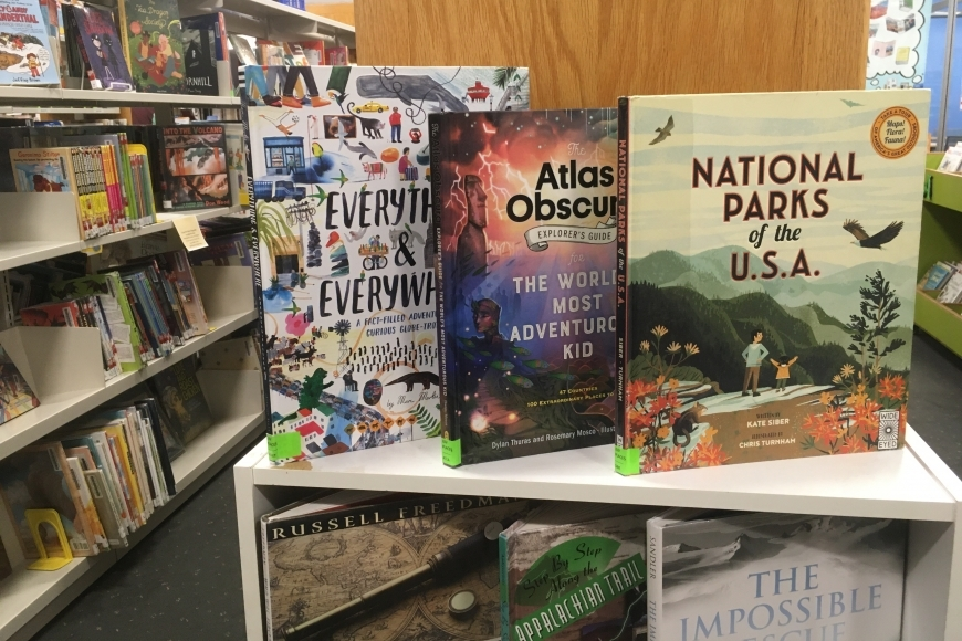 Select Nonfiction titles on display